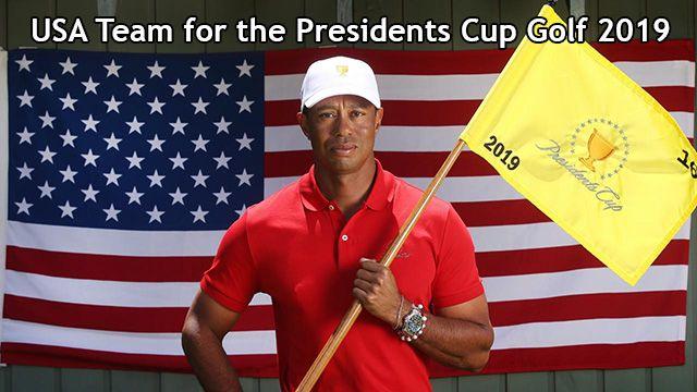 USA Team Presidents Cup Golf 2019